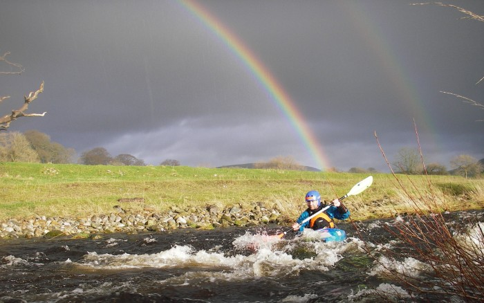 j End of the Rainbow on the Ingleton Greta - Martin Environment